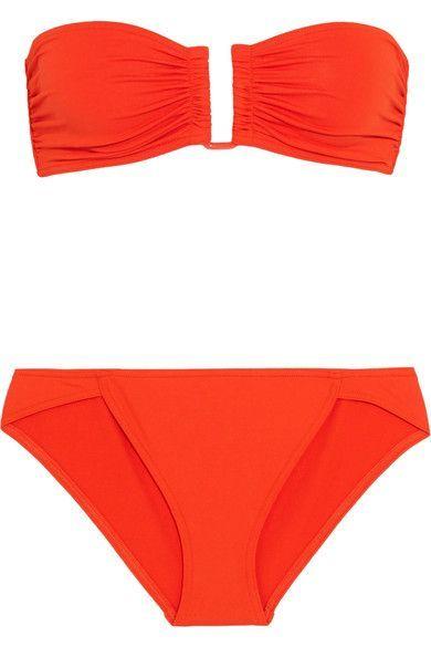 Eres - Les Essentiels Show Bandeau Bikini Top - Tomato red - FR42