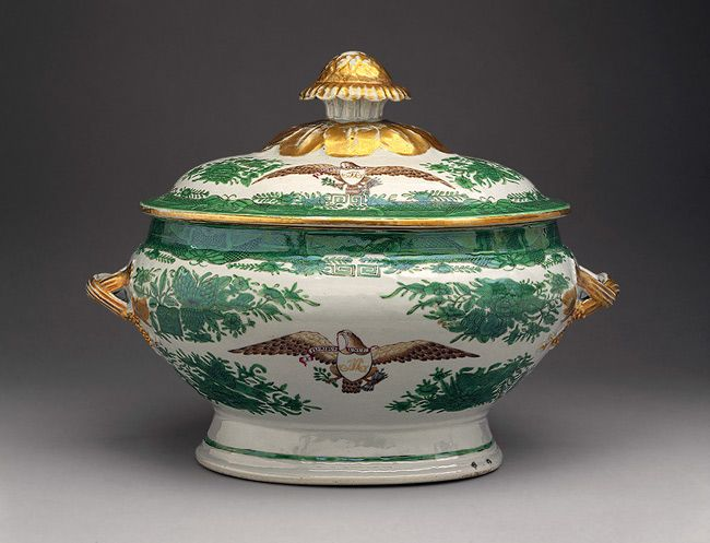 Covered tureen, early 19th century,  Chinese for the American market;  Hard paste. Metropolitan Museum of Art
