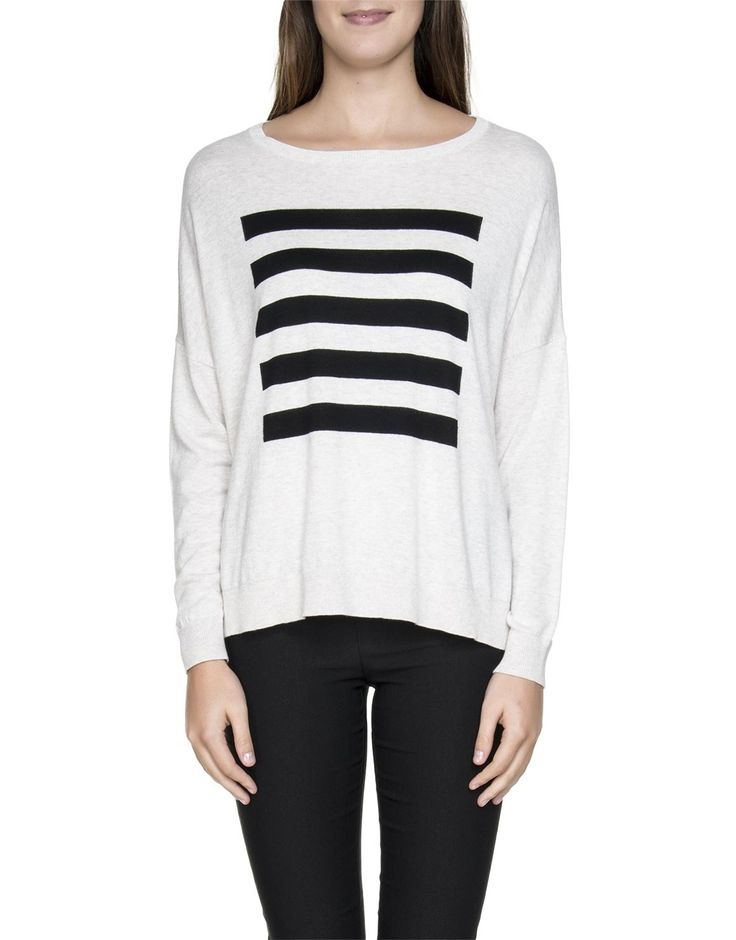 'Barcode' Dolman Knit Pullover