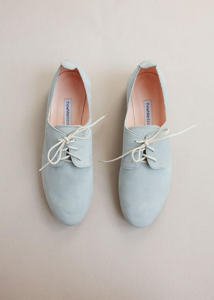 3699524f245 Artic Grey Leather Oxford Shoes