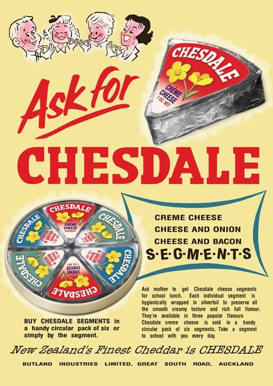 Chesdale Cheese Segments advert, late 1950s