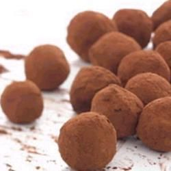 Very easy chocolate truffles