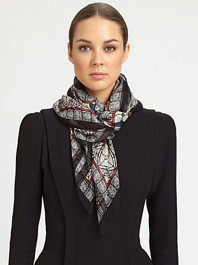 Silk scarf - square 52x52