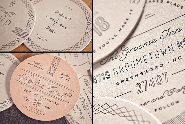 holy incredibleRoss Clodfelt, Coasters Invitations, Hands Stamps, Wedding Invitations, Dinner Parties, Wax Seals, Invitations Inspiration, Wedding Menu, Wine Coasters