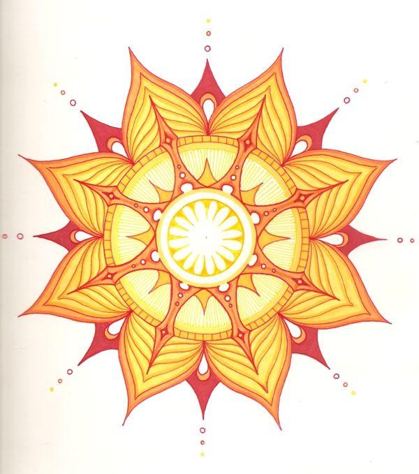 ☮ American Hippie Psychedelic Art ~ Sun Mandala