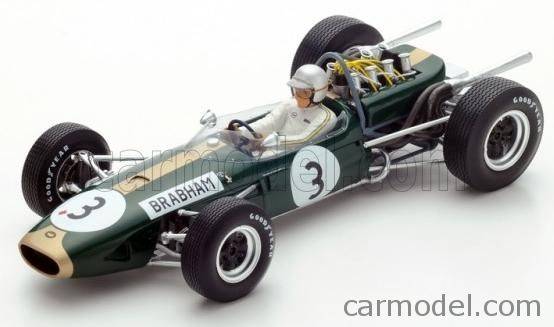 SPARK-MODEL 18S223 Scale 1/18  BRABHAM F1  BT19 N 3 J.BRABHAM 1966 WORLD CHAMPION GREEN