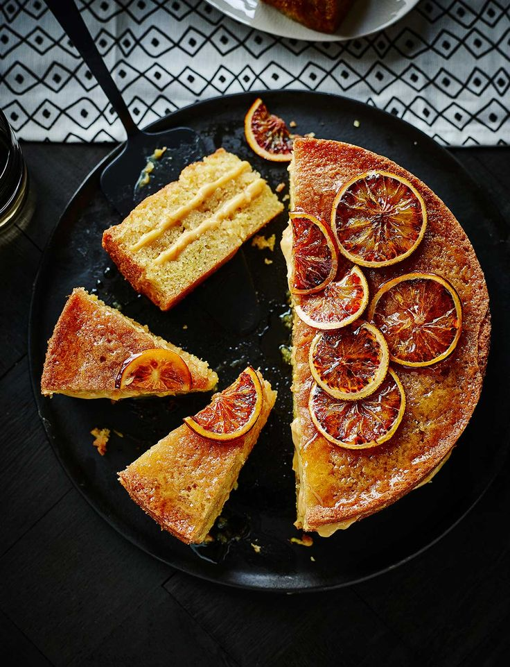 This blood orange drizzle cake is as good for afternoon tea as for a pudding. Left over fragrant blood orange curd can be stored in  the fridge for 5 days – it's delicious on toast