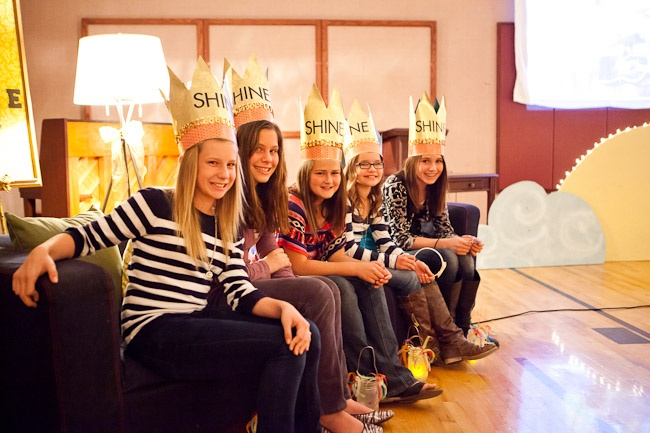 Young Women New Beginnings-crowns for new Beehive Girls