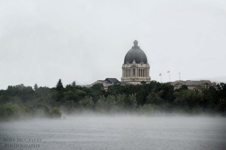 Not the typical sunny blue skies shot of the Parlament Buildings you usually see here in Regina,SK. Early morning fog rolled in making for a unique shot!
