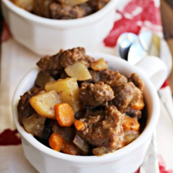 Crock Pot Beef Stew I love Beef Stew and this looks delicious, BUT, please after you get the meat covered with the flour, please brown it in some Granny's Bacon Drippings BEFORE you add it to the slow cooker.  It will be worth your time!