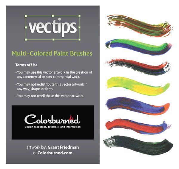 57 Exclusive Illustrator Multi-Colored Paint Brushes