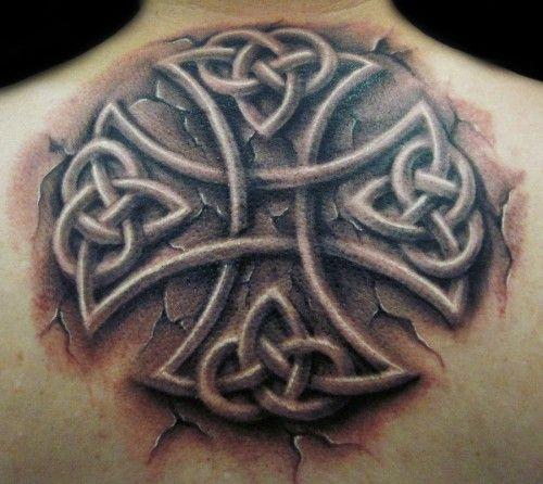 Celtic Cross Tattoos Cracked Stone