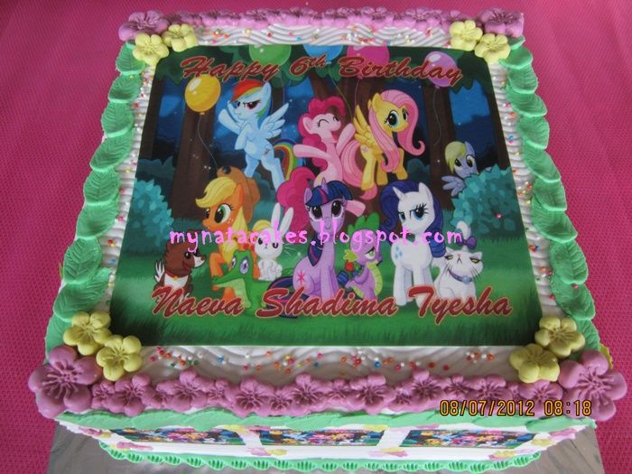 My Little Pony Friendship Is Magic Birthday Cake Image Inspiration