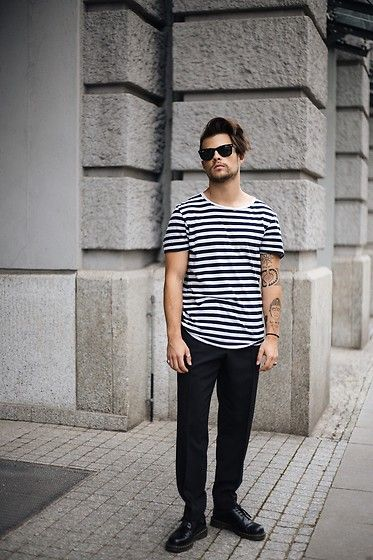 Get this look: http://lb.nu/look/8771957  More looks by Kevin Elezaj: http://lb.nu/kevinelezaj  Items in this look:  Dr. Martens Oxfords, Cos Trousers, H&M T Shirt, Ray Ban Shades   #ootd #outfit #outfitoftheday #look #lookoftheday #lookbook #simple #basic #minimal