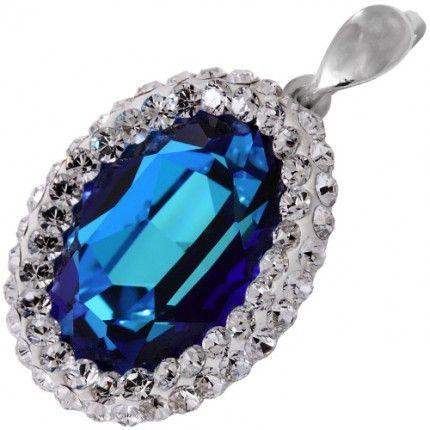 Pandant cu cristal albastru http://www.bijuteriifrumoase.ro/cumpara/pandant-frame-crystallized-oval-f-18-gl-3176