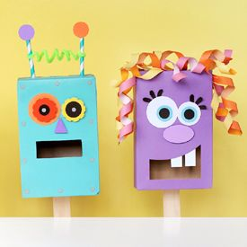 Raid your recycling bin to make these fun puppets from pantry staples.