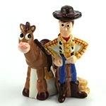 Woody and Bullseye - Salt & Pepper Shakers