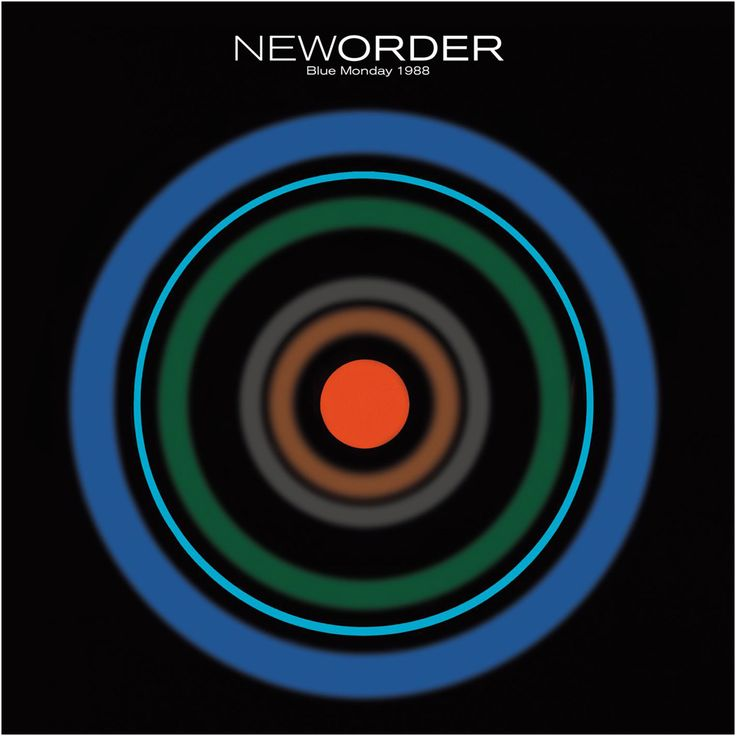 """New Order's """"Blue Monday 1988"""" 12"""" cover, by Peter Saville for Factory Records, 1988."""