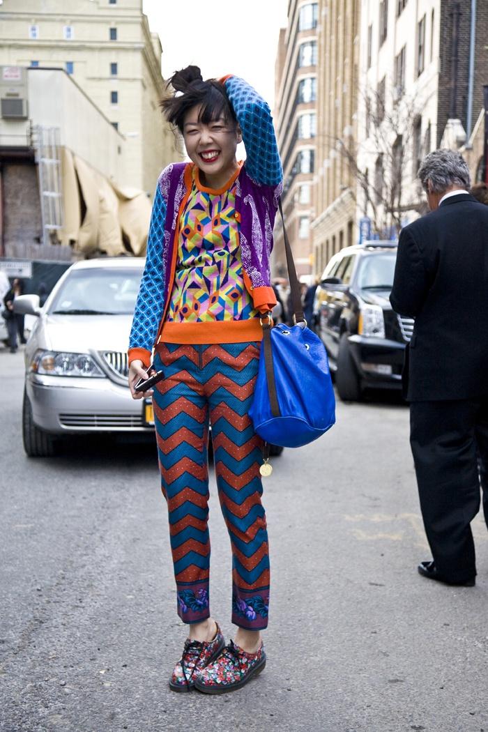 Susie Lau looking swell in her David David sweater! www.daviddavid.co.uk
