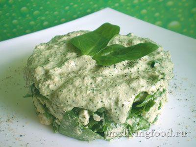 Нежный салат из цветной капусты и шпината