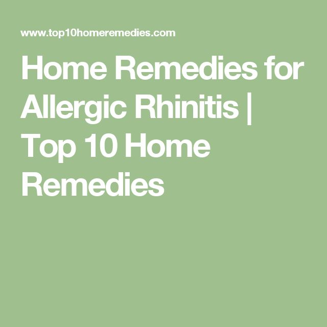 Home Remedies for Allergic Rhinitis | Top 10 Home Remedies