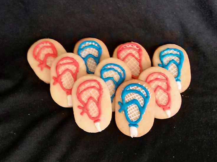 Lacrosse stick sugar cookies w/ royal icing