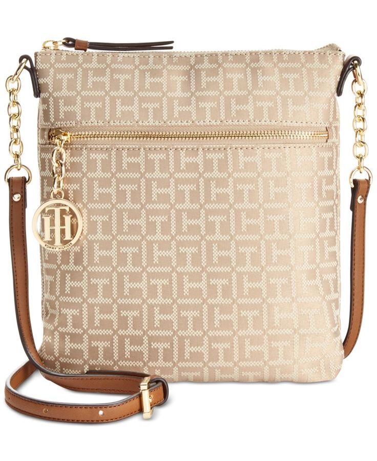 Tommy Hilfiger Sharon Monogram Jacquard North South Small Crossbody