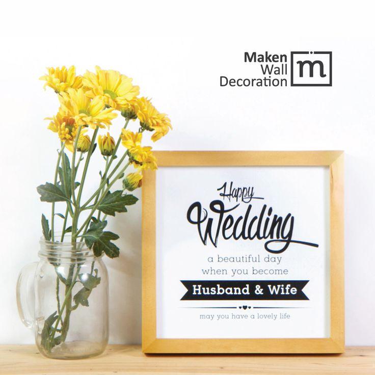 HAPPY WEDDING Pernikahan selalu menjadi momen spesial yang romantis. Desain ini dapat kita gunakan sebagai KADO UNIK untuk pengantin yang hendak membangun rumah tangga baru. Melalui desain ini pula kita bisa mendoakan supaya sang pengantin mendapatkan kehidupan yang bahagia.