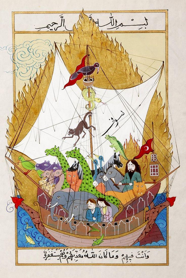 Nuh'un Gemisi Minyatür-Taner Alakuş Minyatür Atölyesi