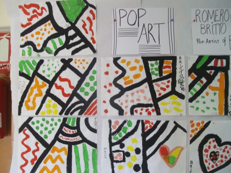 Line Art Kindergarten : Romero britto for kinders kindergarten art pinterest