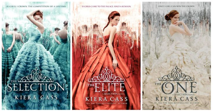 The Selection Trilogy by Kiera Cass. For the Princess in all of us. 35 girls are chosen to enter a competition for the prince's hand. So addicting!