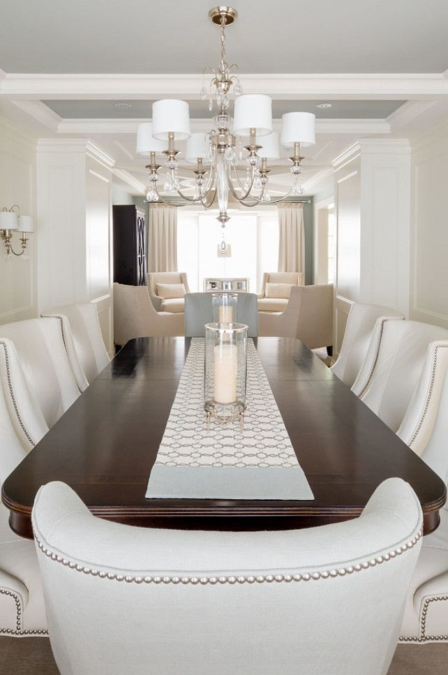 Dining Room Furniture. The dining table is from Hickory White. #DiningRoom #Interiors #Furniture