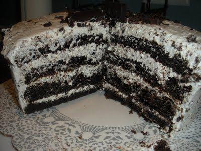 Hershey Bar Cake - best cake ever!!
