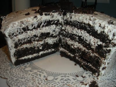 Ate this at a Pig Pickin' and had to find the recipe. This was spot on and sooooo good! Hershey Bar Cake