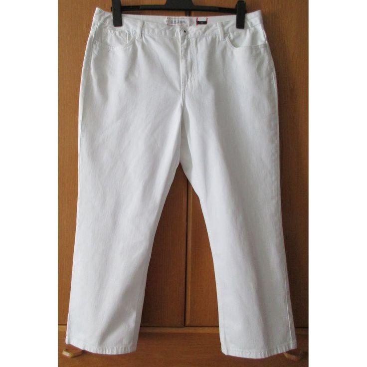 "Weiße H.I.S-Damen-Jeans ""Since 1923"", Modell ""Sunny"", Gr. 48, sehr gut."