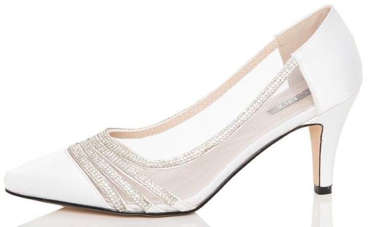White Satin Point Toe Court Shoes £29.99 #CommissionLink