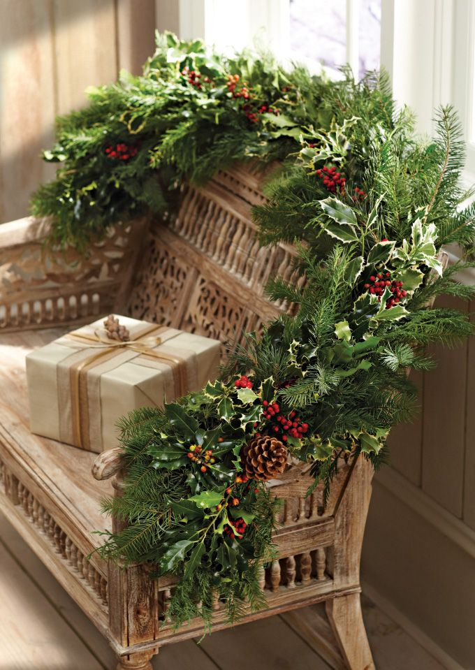 Christmas garland christmas decor ideas pinterest Outdoor christmas garland ideas