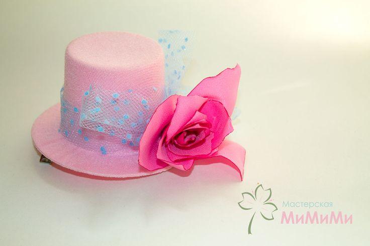 Детская шляпка с розой