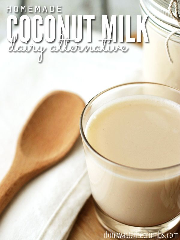 Get this - you can save 85% on coconut milk by making it yourself! 2 simple ingredients and 2 minutes is all it takes, and without all the added junk, it's so much healthier than store bought! :: DontWastetheCrumbs.com