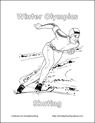 Winter Olympics Coloring Book