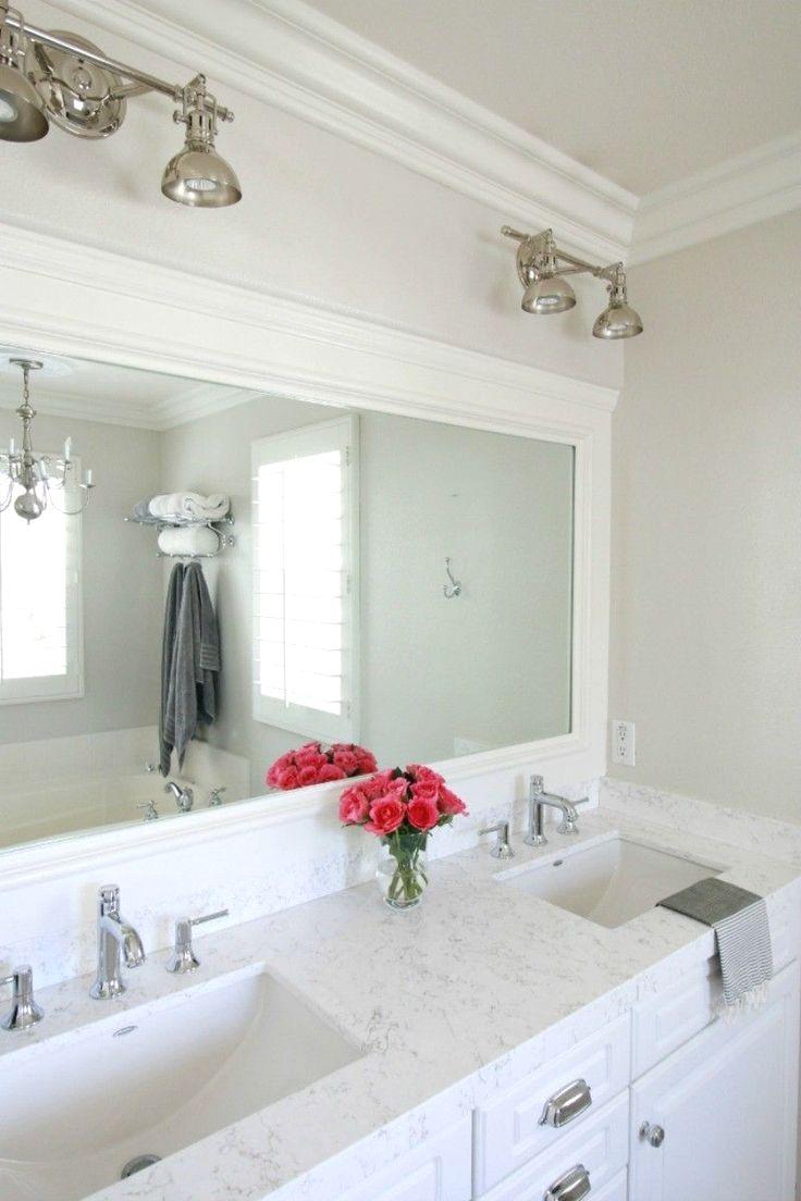 New Bathroom Countertop Ideas #diycountertops.  Quartz bathroom