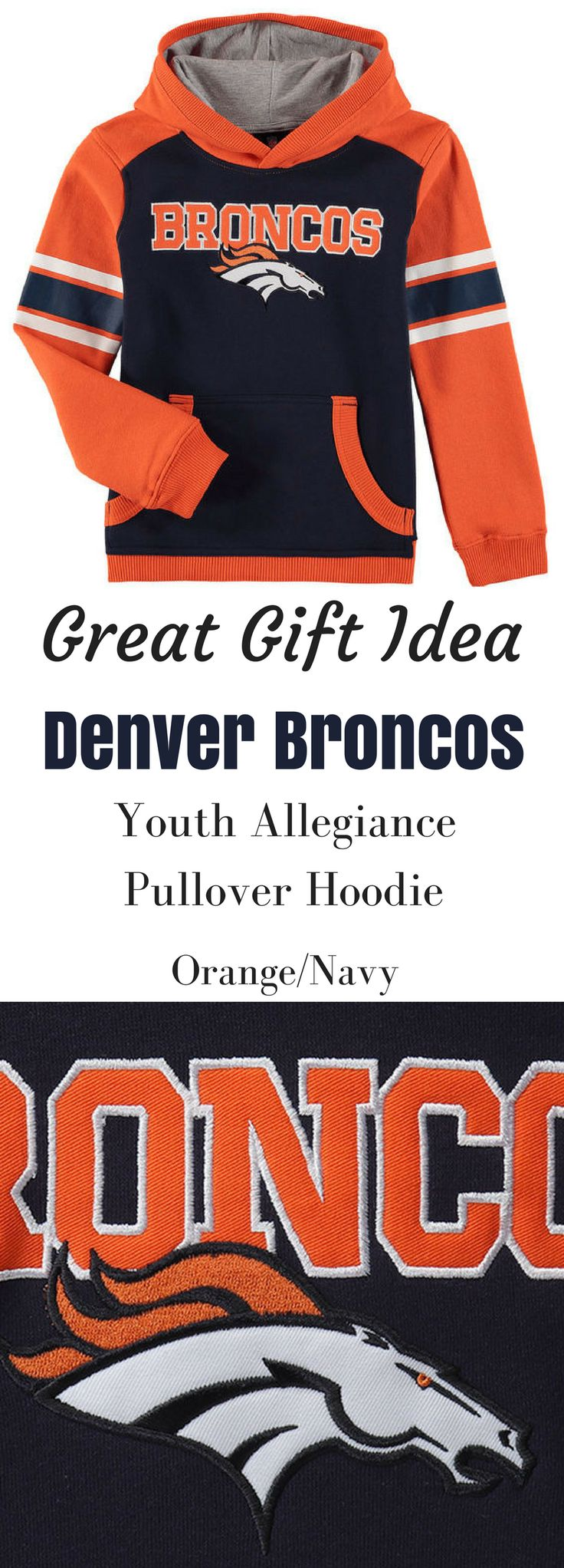 WOW I bet my son would love to have this Denver Broncos Pullover Hoodie! He could show off his Denver Broncos enthusiasm with this classic Fan Gear Allegiance pullover hoodie. He'll feel like a part of the team thanks to the bold Denver Broncos graphics decorating this sweet top! NNT #Afflink #broncos #football #denver #DenverBroncos #coloradolife #christmasgifts #hoodiessweatshirtsformen  #christmasgiftsideas #PULLOVER #sweatshirts #gift #giftideas #GIFTIDEA #birthdaygifts denver broncos…