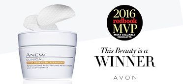 Avon Clinical Extra Strength Peel Pads use a complex of 5 acids (including alpha hydroxy acid) to retexturize & replenish your skin.
