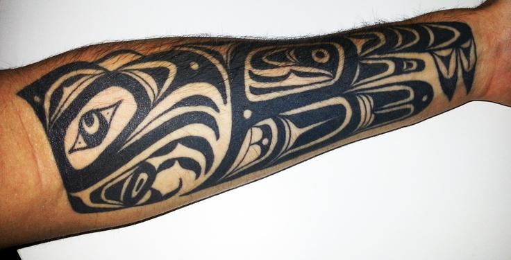 My tattoo - by Jim Orie (dragon) #haida #tattoo