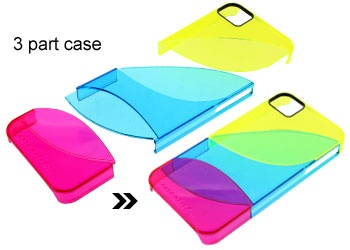 Color mixing. Japanese 3-part iPhone case: Iphone Cases, Cases Iphone, Colors Mixed, 3 Parts Iphone, Iphone Diy, Japanese 3 Parts, Iphone Iphone, 3Part Iphone, 01 Iphone Stories