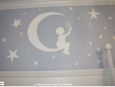 Best 25 nursery wall murals ideas on pinterest baby for Blue moon mural