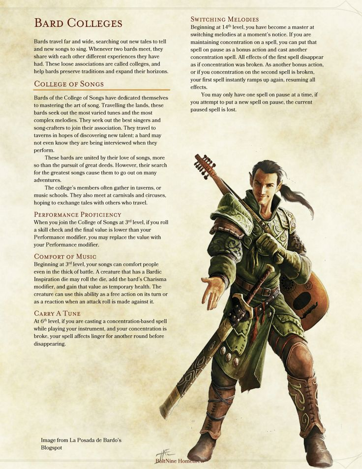 18 best Bard images on Pinterest | Bard college, Dnd 5e ...