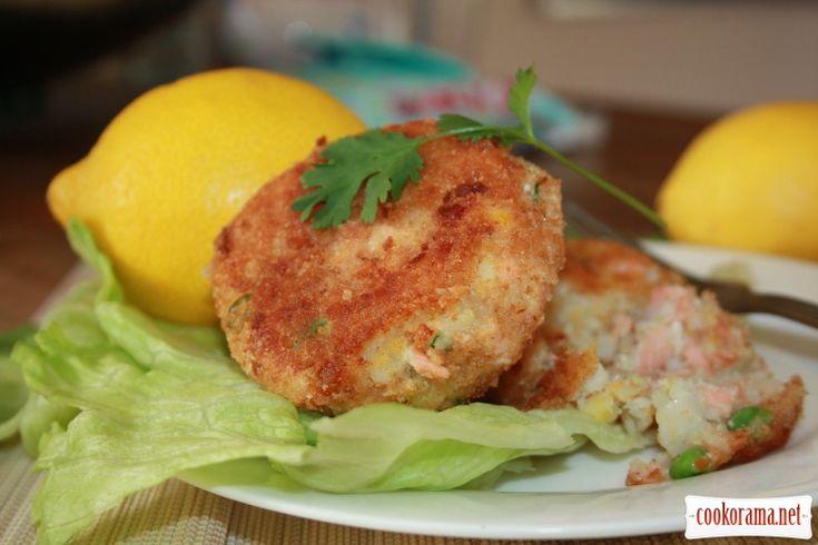 Рибні котлетки (fish cakes) з сиром та зеленню / Рибні другі страви / Кукорама — смачні рецепти!