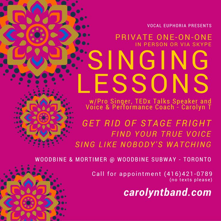 Singing Lessons In person or Skype