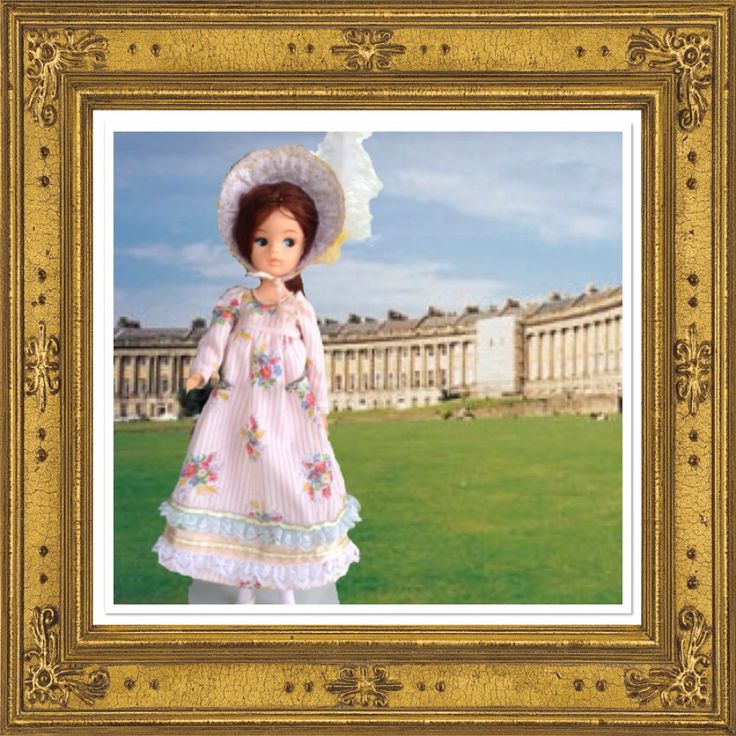 A Jane Austin style outfit for Sindy. I made it from a basic pattern in an old Golden hands book.
